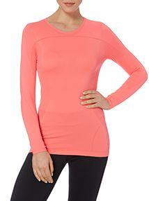 Pink Sports Seam-free T-shirt