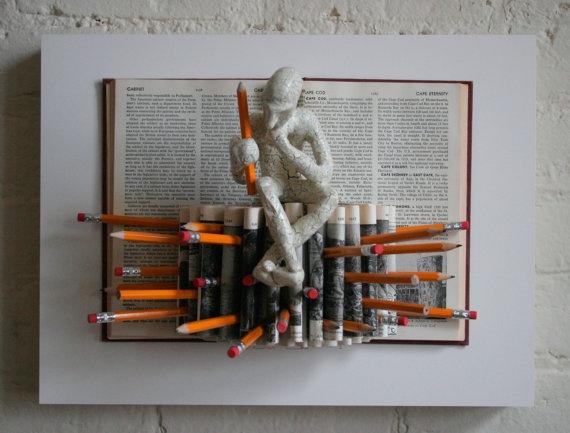really love this guy's art..... Pencil Burst Original Sculpture by Kenjio