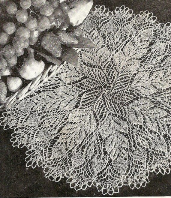 Ok, I've never knitted a doily, but this is so pretty. I'm just going to have to try it. lol