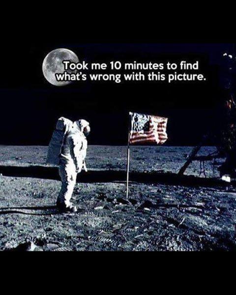 NASA be like we on the moon, lol