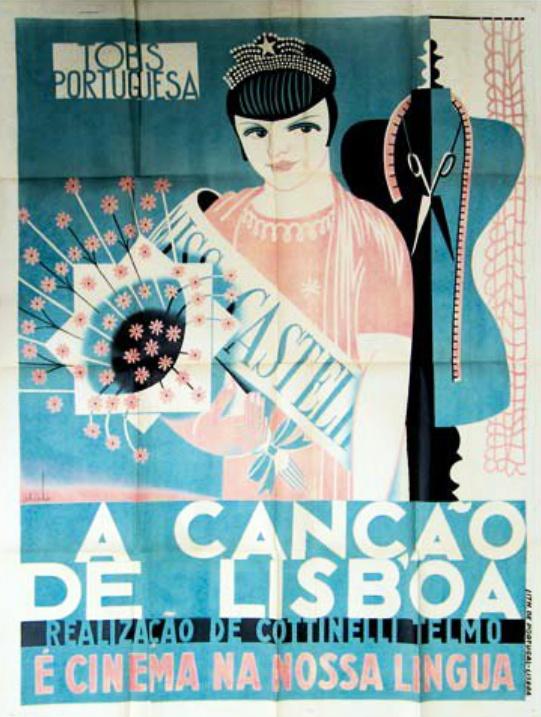 """""""A Canção de Lisboa"""" by Almada Negreiros - 1933"""