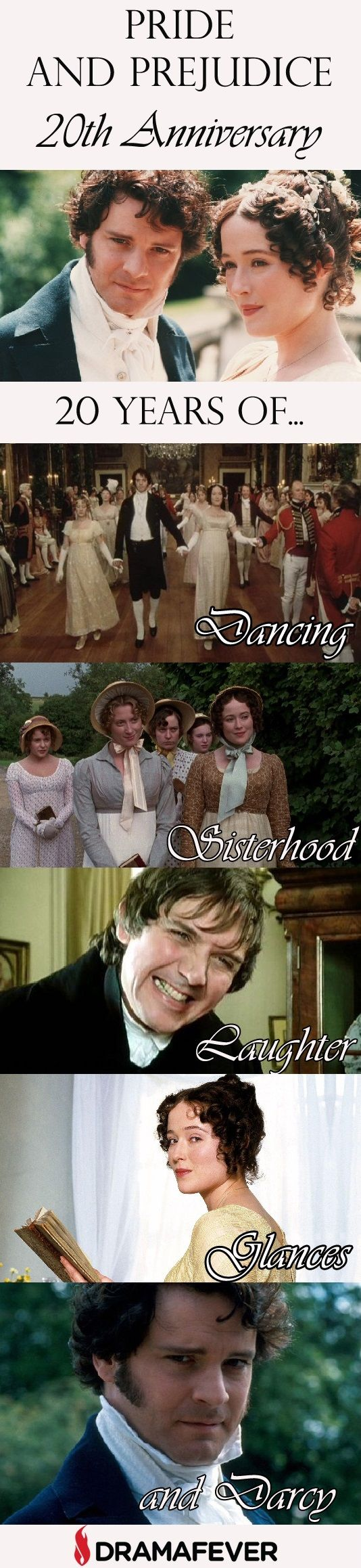 Celebrate the 20th anniversary of the 1995 BBC classic Pride and Prejudice by streaming it on DramaFever!