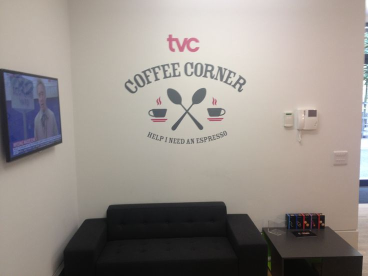 Http www vinylimpression co uk every office should have a office wallswall vinylcompany logowall stickerscoffee