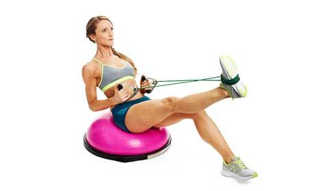 The Bosu Ball HIIT Circuit That Cinches and Sculpts