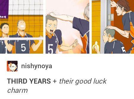 Lol, rub Tanaka's head for good luck. XD