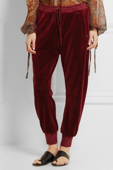 Chloé | Drawstring velvet track pants | NET-A-PORTER.COM