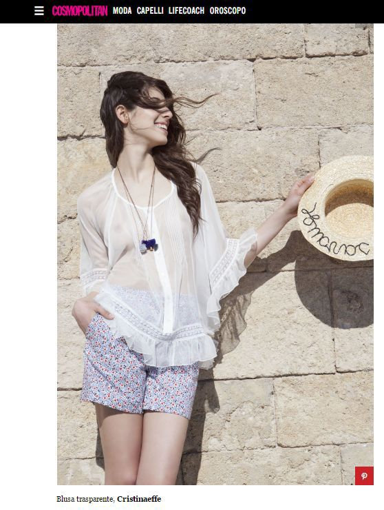 Super estiva e femminile la nostra blusa Vip su @Cosmopolitan ☺️ http://www.cosmopolitan.it/moda/tendenze/a117075/primavera-estate-2017-idee-mare/