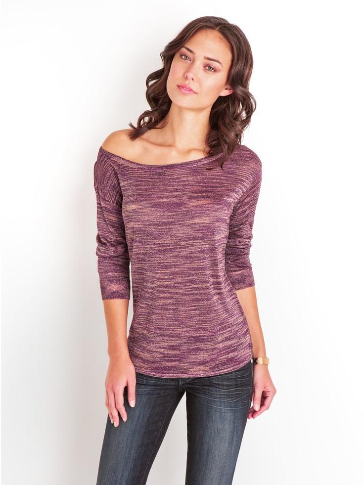 GUESS Long-Sleeve Space-Dye Sweater, RASPBERRY RUSH MULTI (LARGE)
