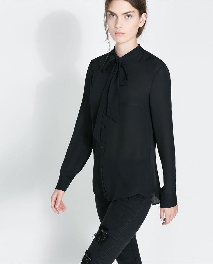 1000  ide tentang Black Silk Blouse di Pinterest | Pakaian kantor ...