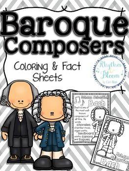baroque composers coloring and fact sheets domenico scarlattijohann pachelbelbaroque composerssebastian bachpiano