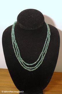 laBorcRea - bijoux e dintorni: Collana a tre fili di Smeraldi con chiusura in Arg...