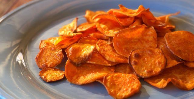 Perfect Paleo Crunchy Sweet Potato Chips