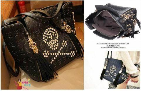 CENTRAL BAGS PUSATNYA TAS BRANDED : Fashion Korea Skull Import