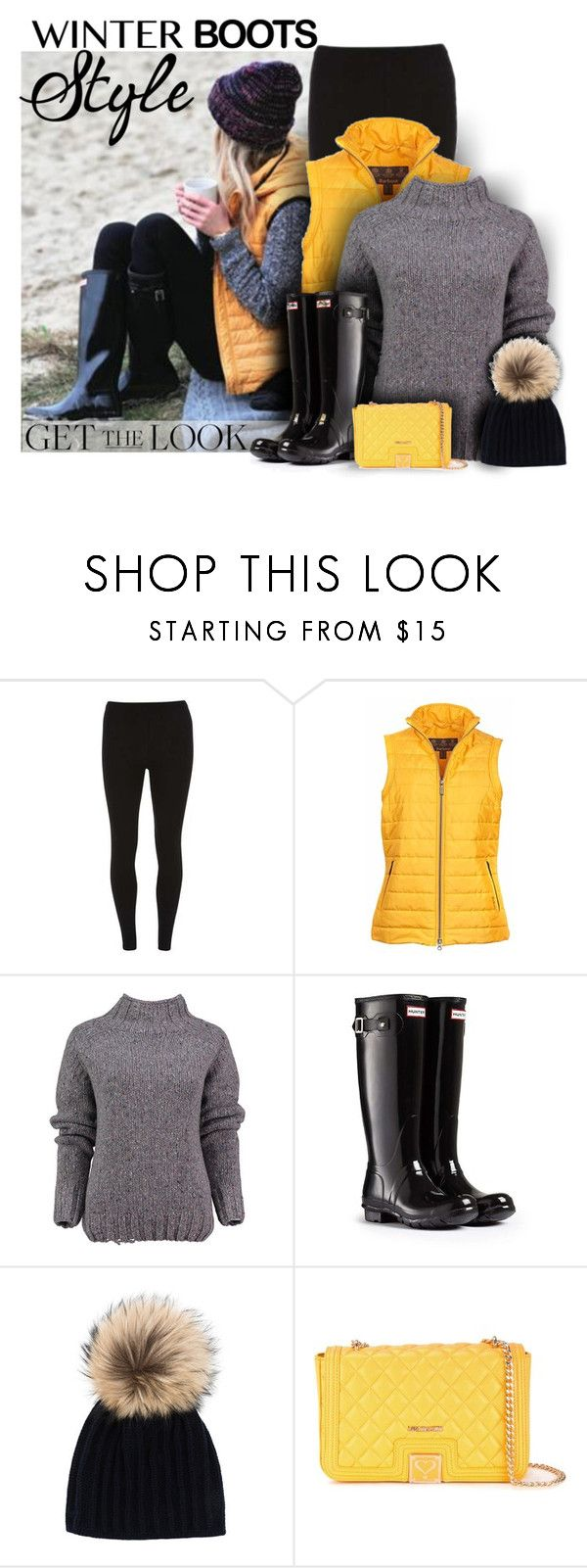 """""""So Cozy: Winter Boots"""" by cindycook10 ❤ liked on Polyvore featuring Dorothy Perkins, Barbour, Lowie, Hunter, Inverni, Love Moschino, GetTheLook, polyvorecommunity, winterboots and winterstyle"""