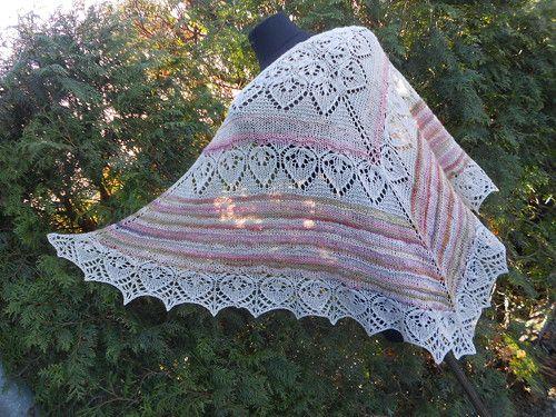Pléd, šátek - Anglické růže, ručně předené merino