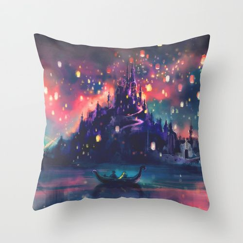 The Lights Throw Pillow  If only I didn't already have so many pillows...this would be perfect with my plethora of Disney blankets!
