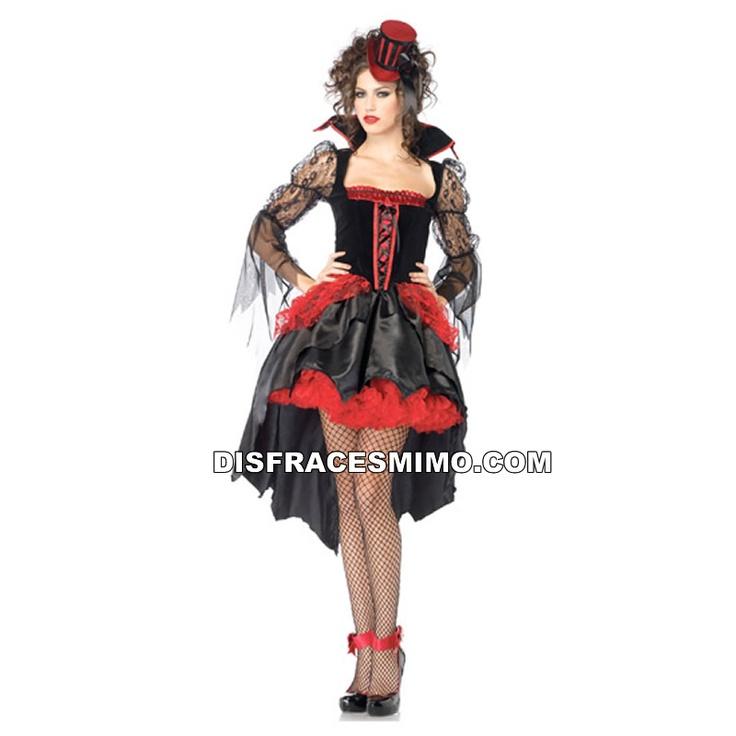disfraz de señora de la noche mujer gr 71075.  Vive para siempre en la noche y conviértete en la versión femenina de Drácula con este maravilloso disfraz.