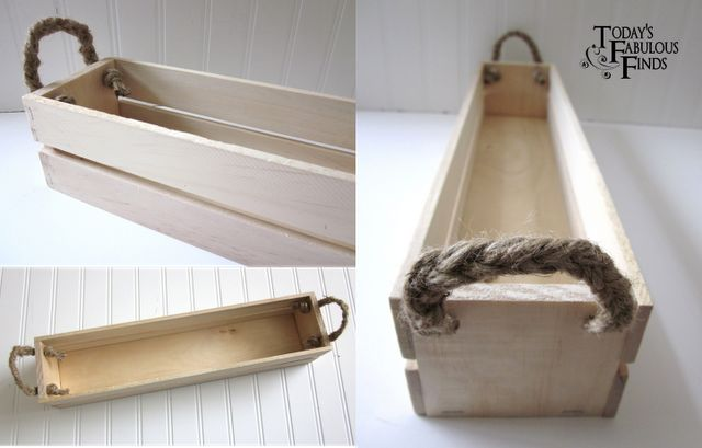 DIY Crate from Paint Sticks-this would be really cute and useful in the pantry (re-sized as necessary) for storing mac n cheese boxes, extra condiments, spice packets, whatever!