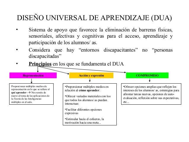 Aprendiazaje DUA (Diseño Universal de Aprendizaje)