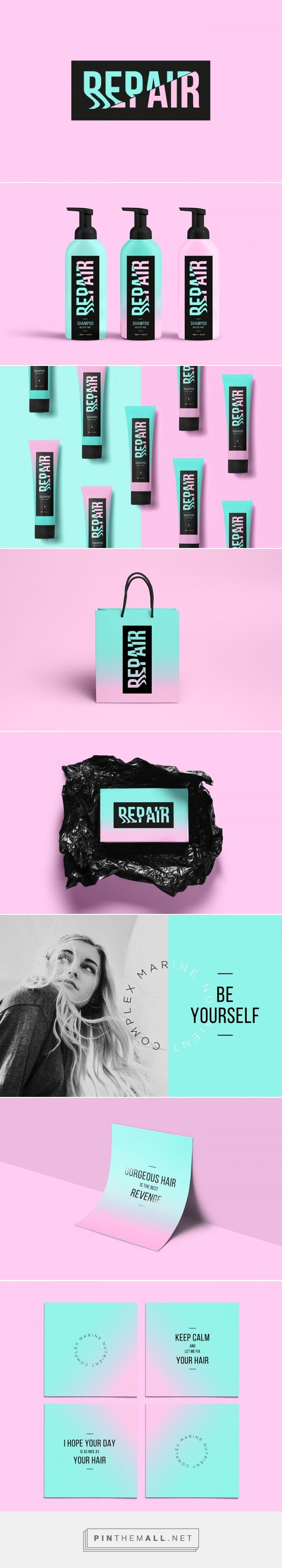 Repair Hair Product Branding and Packaging by Milena Wlodarczyk | Fivestar Branding Agency – Design and Branding Agency & Curated Inspiration Gallery