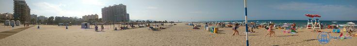Panorámica de la Playa de Gandia.