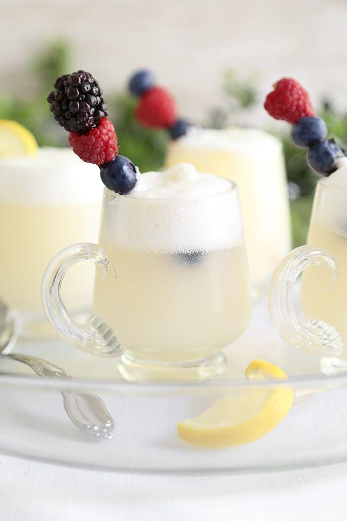 Lemon Sorbet Punch | Sprinkle Bakes