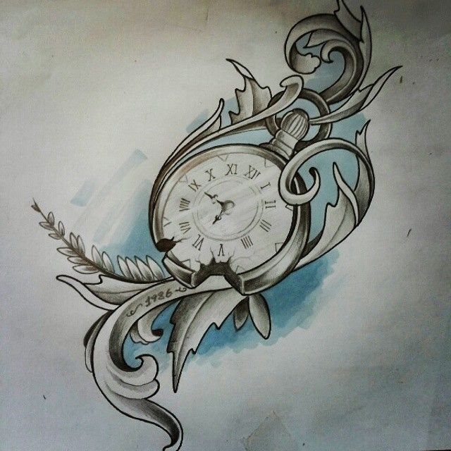 #tattoodesign #clock #västerås