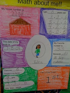 Math About Me-this would be an awesome first week of school activity