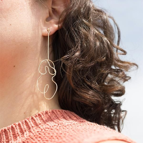 Knobbly Studio Nude Earring