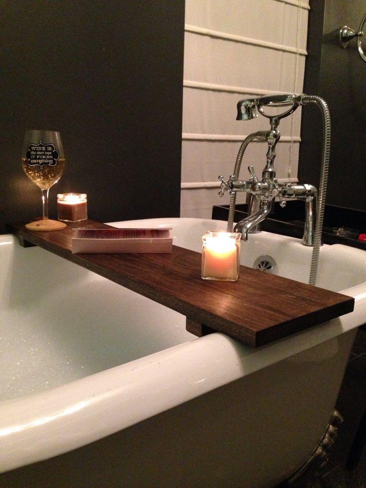 Rustic Bathtub Caddy Bath Tray Poplar Wood Clawfoot Tub Tray by TheMiteredJoint on Etsy https://www.etsy.com/listing/262017463/rustic-bathtub-caddy-bath-tray-poplar
