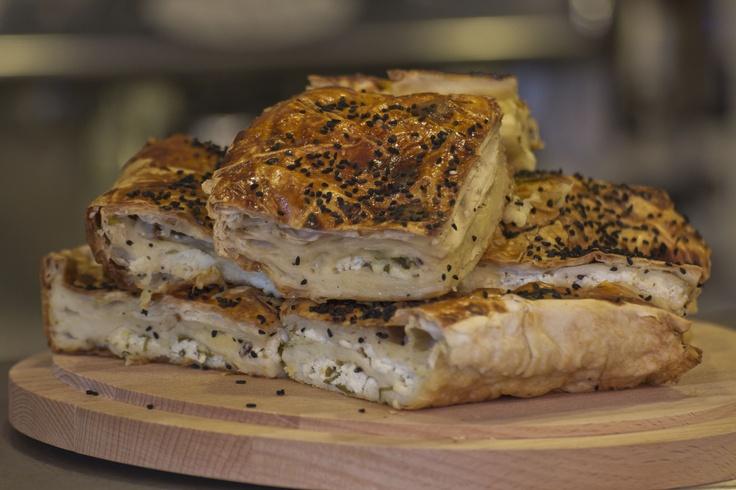 Borek. Turkish pastry with feta cheese!