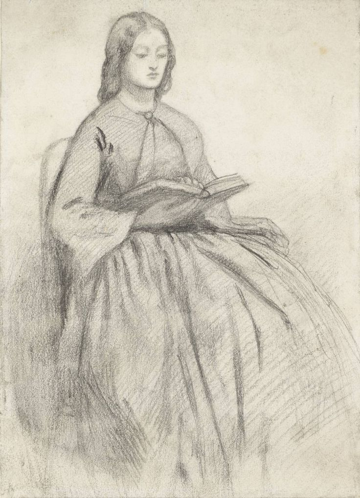 'Elizabeth Siddall in a Chair' by Dante Gabriel Rossetti. Date unknown. Pencil on paper. Tate Britain (view by appt).