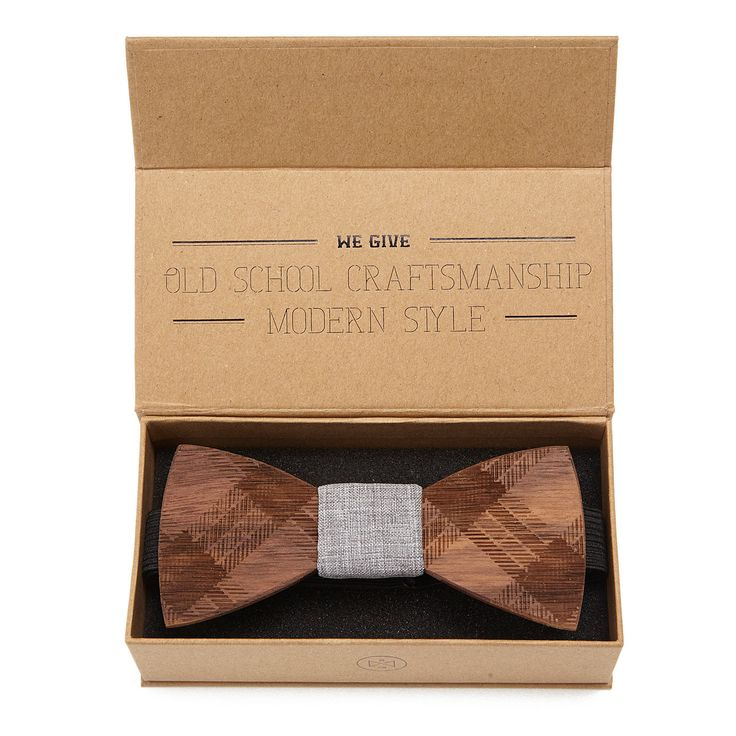 ETCHED WALNUT WOODEN BOW TIE | wood accessory | UncommonGoods