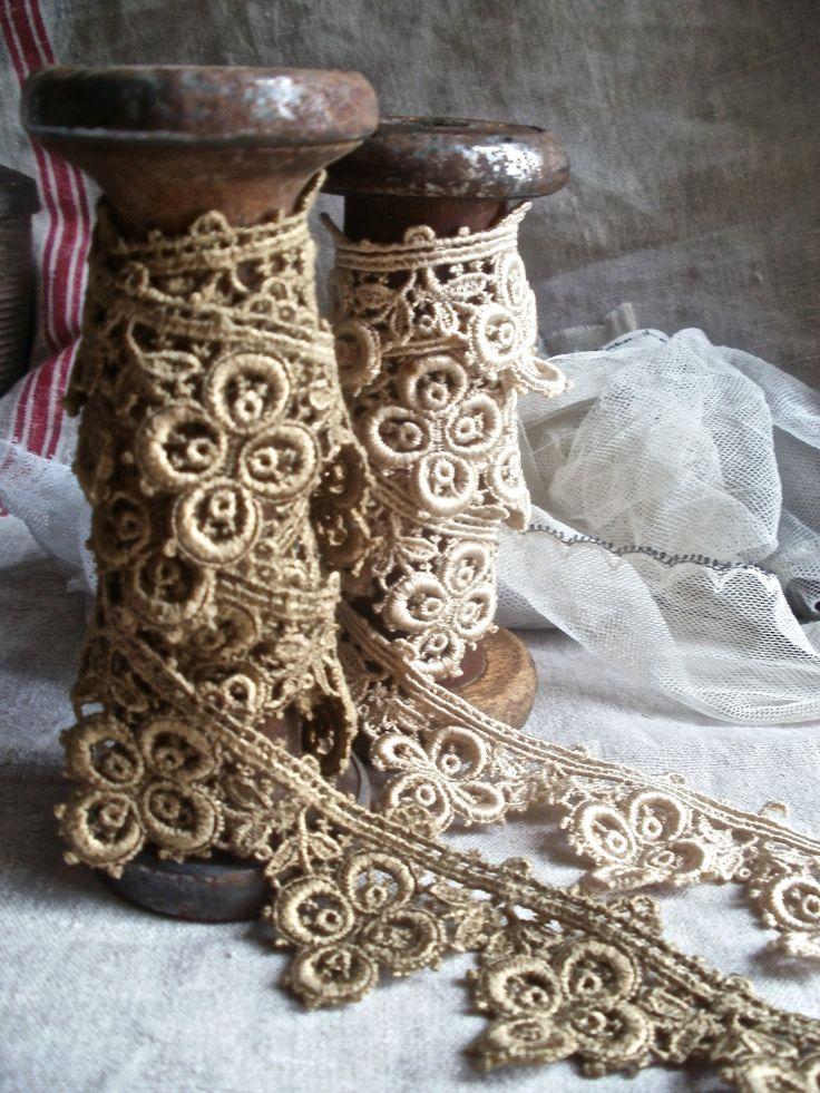 Spools of Antique Lace Trim