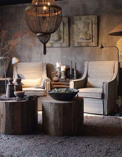 Woonkamer landelijke stijl days at home pinterest - Sofa stijl jaar ...