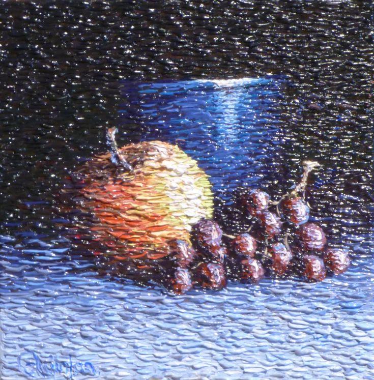 "impressionist still life fruit 8"" x 8"" by Chris Quinlan Art"