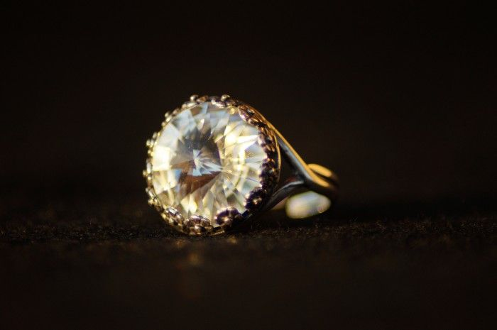 Anello swarovski rotondo cristallo 4