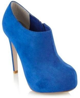 ShopStyle: Bright blue suedette shoe boots