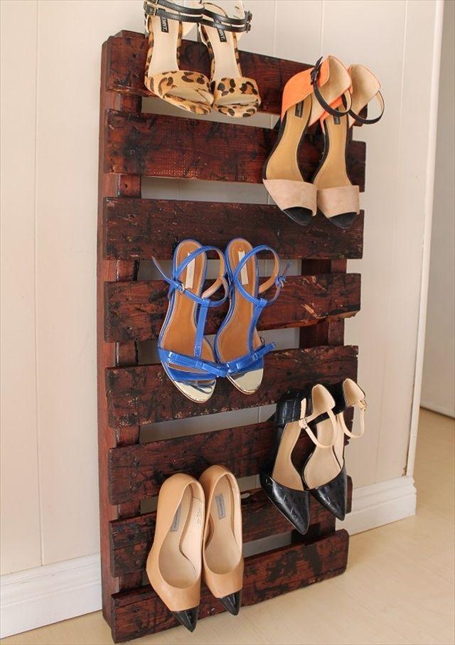 amazing pallet decor ideas for guide you pallet shoe rack diy