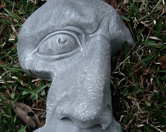 rock face concrete garden face cement rock face garden decor concrete statues - Concrete Garden Decor