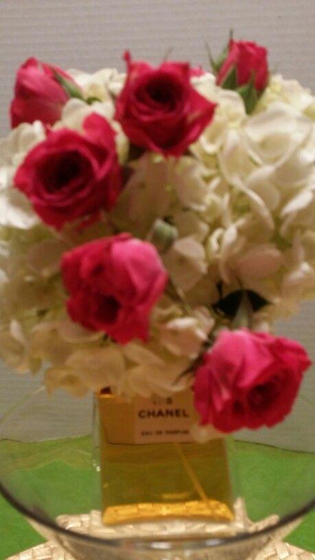Roses, hydrangea, Chanel