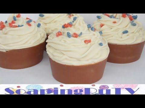 №3 Мыло-пирожное с нуля. Идея для подарка. Soap cupcakes. - YouTube