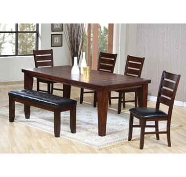 With charming simplicity, this six piece dining set will make an inviting focal point in your dining room. #ilovetoshop