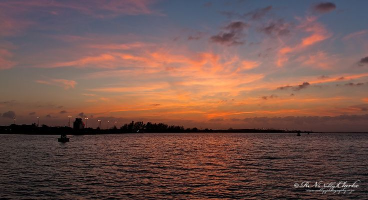 Richards Bay Harbour, sunset with beatiful colour in the sky summertime at its best
