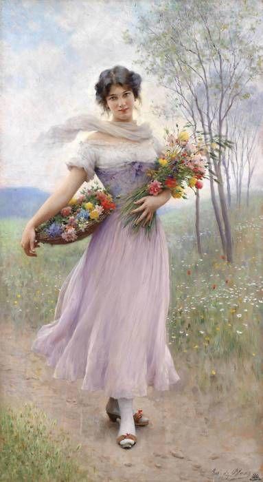 Girl in a Lilac Dress, Eugene de Blaas
