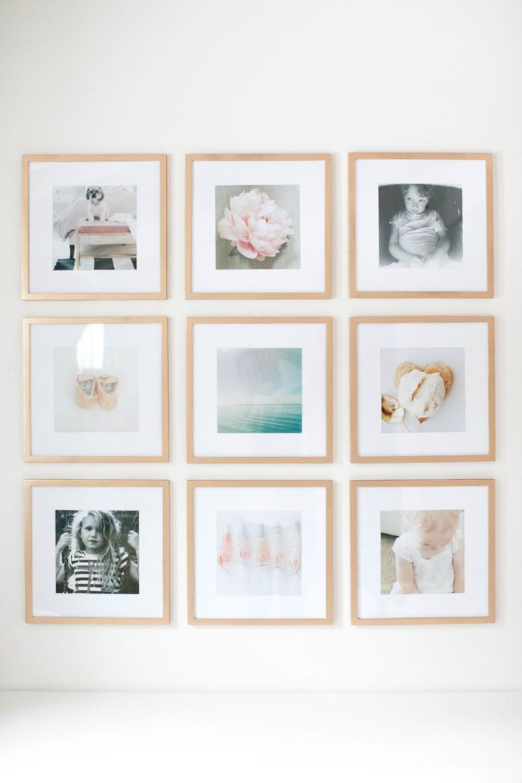 if you like symmetry, opt for a uniform grid gallery View entire slideshow: Curate a Stunning Gallery Wall on http://www.stylemepretty.com/collection/5216/