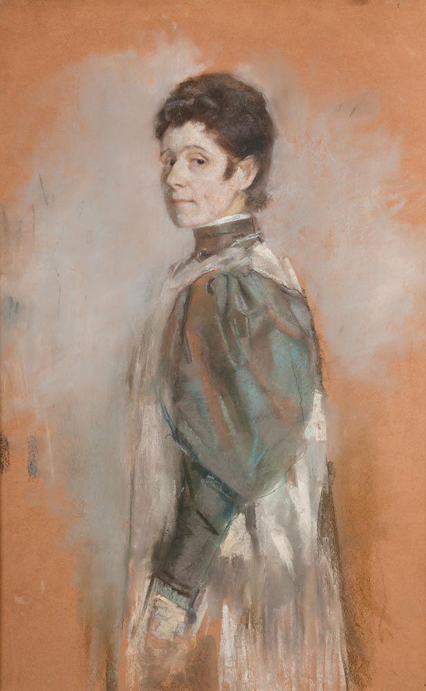 """Olga Boznańska, """"Autoportret"""", 1898 , wł. Muzeum Narodowe w Krakowie, fot. Karol Kowalik / MNK"""
