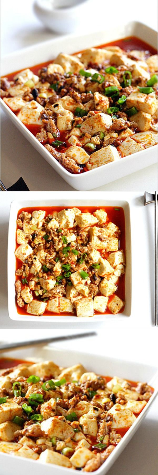 Mapo Tofu - spicy Sichuan tofu with group pork. Try this Chinese tofu dish with this super easy recipe | rasamalaysia.com