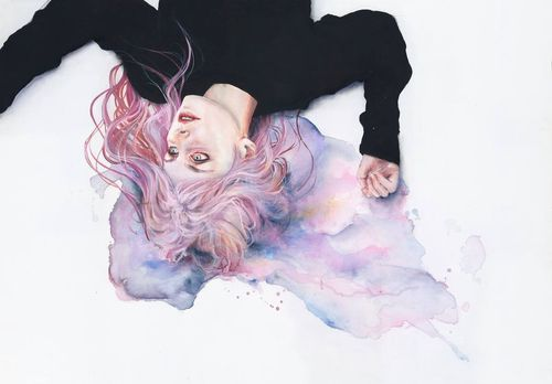 pastel goth watercolors