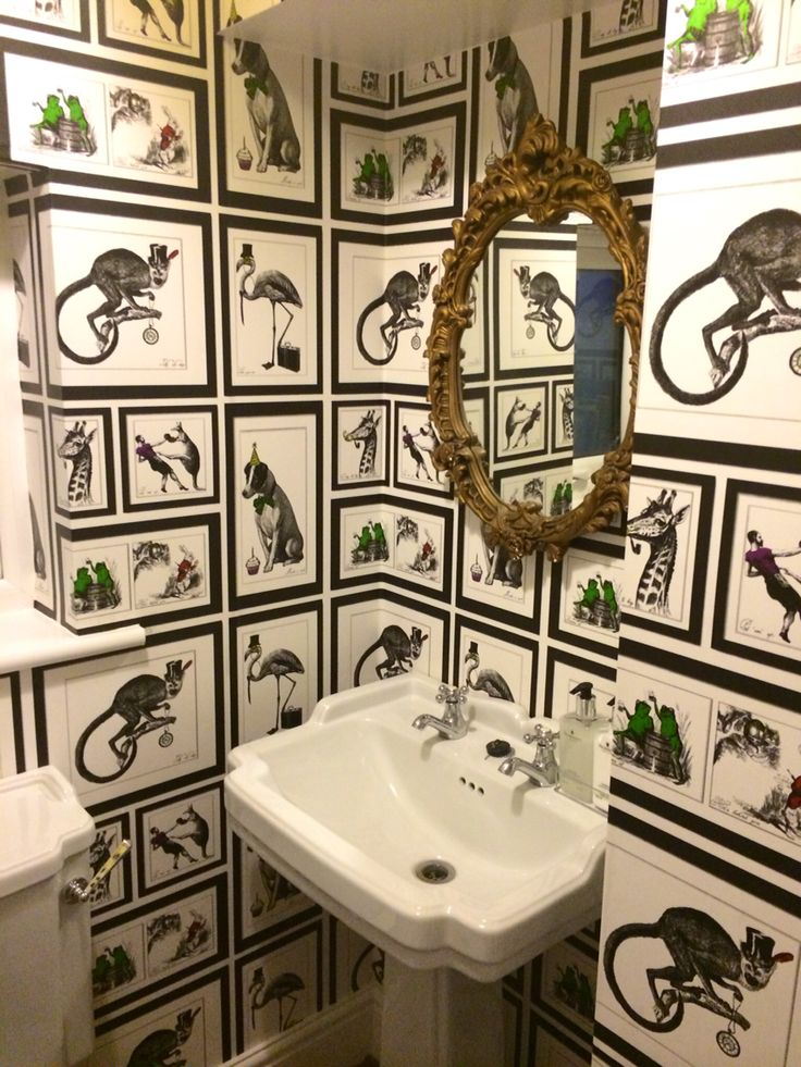 Downstairs Cloakroom Albany Wallpaper Mad Dogs Toilet